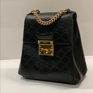 Gucci / GG Supreme Leather Padlock Backpack